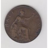 Moneda Inglaterra Half Penny 1919 Buena +