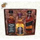 Jack Daniels + Black Label + Chivas Regal (50ml) Mini Whisky