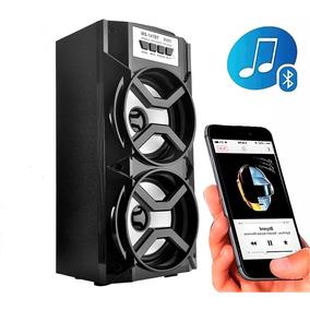 Caixa De Som Preta Bluetooth 10w Rms P2 Sd Card Usb Rádio Fm
