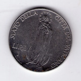 Vaticano 1 Lira 1941 Papa Pio Xii Sin Circular !!!