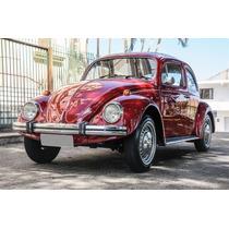 Fusca 1976 Mod 77 1300 L Vermelho Malaga Incríveis 45000km
