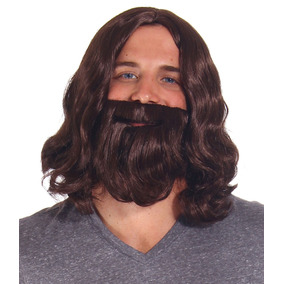 Hombres Peluca + Barba Disfraces Adulto Pelucas Halloween...
