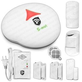 Alarma 5s S-mart Gsm Blanca Inalambrica Kit Gas Casa Hogar