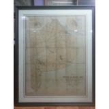 Mapa Provincia Buenos Aires 1890. Gran Tamaño Antiguo