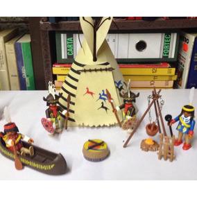 Playmobil Vintage Indios Nativos Americanos Tipi De Tela