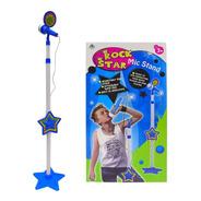 Micrófono Infantil Azul Para Nene + Karaoke + Plug Mp3