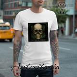 Camiseta Hombre Calavera New York Autoritaria K1