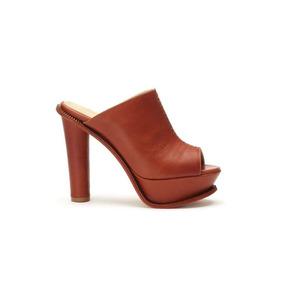 Zapatos Dama Cuero Taco Redondo Plataforma Pepe Cantero 2017
