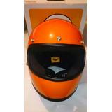 Casco Gringo Para Moto Importado Gloss Peligro Naranja Nuevo