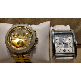 Relógios Tommy Hilfiger E Swatch Dourado