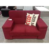 Sofa Flavia De Tela 2 Puestos Importados