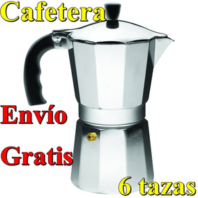 Cafetera Italiana Para Espresso 6 Tazas Aluminio Cafe Expres