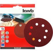Lijas Redondas Kwb 60gr X 125mm X Paquete 5 Unidades