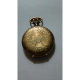 Antiguo Reloj De Bolsillo,4 Tapas Las Externas Labradas Oro