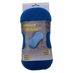 Esponja Microfibra Auto Premium Oregon Azul Para Lavar