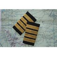 Charreteras De Comandante Doradas (piloto)