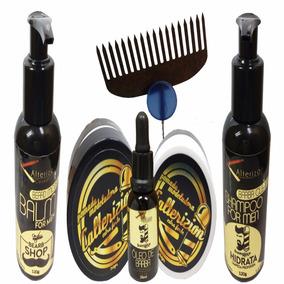 Pomada+ Oleo+ Balm+shampoo +brinde Na Compra De 4 Kit Leve 5