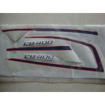 Jogo De Faixas Adesivo Honda Cb400 Vermelho Ano 84