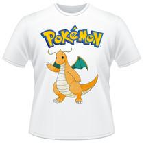 Camiseta Infantil Pokemon Go Dragonite Anime Desenho Camisa