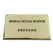 Placa De Bronce, Profesional, Medidas: 15x13cm.