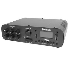 Amplificador Som Ambiente C/ Bluetooth 100w Ab 100 Bt - Nca