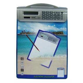 Calculadora Eletrônica Com Prancheta Novo Lacrada 9 Funções