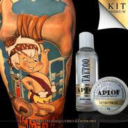 Kit Tattoo Pomada Y Jabón Neutro Aplof Para Cuidar Tatuaje