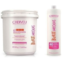 Pó Descolorante Cadiveu Buriti Mechas 500g + Emulsão 900ml