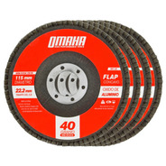 Disco Flap 115 Mm Oxido De Aluminio Grano 40 Pack X 10 Omaha