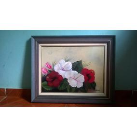 Pintura Óleo Sobre Tela,hibisco