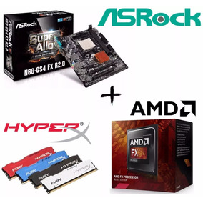 Kit Proc Fx 4300 + Asrock N68-gs4 R2.0 + Mem 8gb Hyperx Fury