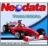 Neodata 2009 Precios Unitarios Con 7000 Matrices May2017