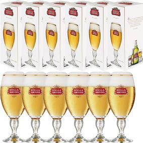 6 Cálices Taça Copo Stella Artois 250ml Cerveja Licenciado
