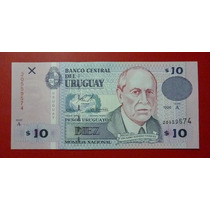 Uruguay Billete 10 Pesos Unc 1998