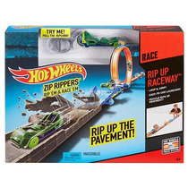 Hot Wheels Rampa Zip Rippers Rip-up Raceway Track Set
