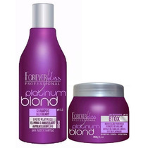 Shampoo Blueberry 300ml + Btox Matizador Platinum Blond 250g