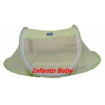 Mosquiteiro Portátil Berço Bebê Verde !