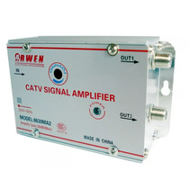 Amplificador De Señal 2 Salidas Antena Cable Tv Vhf Uhf 30db