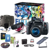 Canon T6i Vídeo Kit Creador W / Ef-s 18-55 Mm F / 3,5-5,6...