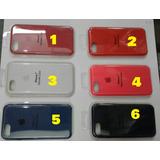 Silicone Case Iphone 7 / Iphone 7 Plus + Mica De Vidrio