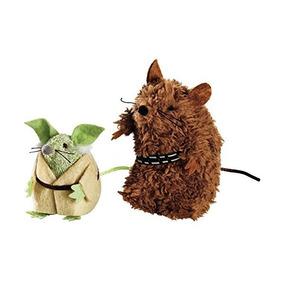 Star Wars Yoda Y Chewbacca Ratones Gato De Los Juguetes