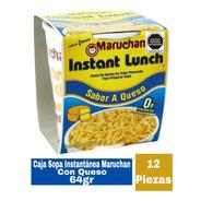 Caja Sopa Instantánea Maruchan Con Queso 12 Piezas