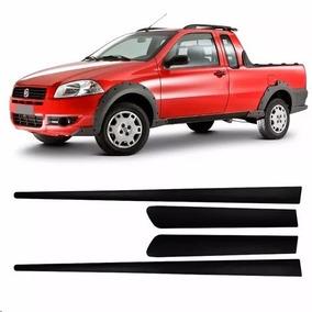 Friso Perfil Lateral Fiat Strada 2006 2007 2008 A 2012 Preto