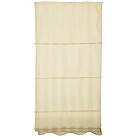 Oriental Furniture Striped Roman Window Shades Cream 24-inch