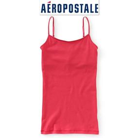 Playera Xs Aeropostale Cami Bra Incluido Blusa Roja Sin Mang