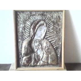 Cuadro De Virgen En Alumninio Repujado