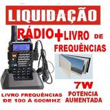 Kit Radio H T Uv5re + Livro Frequencia=radio Sai P/r$99,00