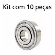 Kit Com 10 Peças - Rolamento 6200-zz - 10 X 30 X 9
