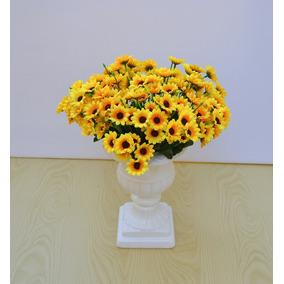 Girassol 5 Buquês C/22 Flores Flor Artificial Arranjo Festa