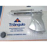 Seringa Veterinária Automática 50cc C.fechado Triangulo